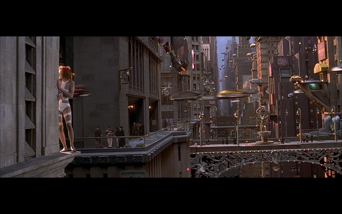 Photo wallpaper Fifth Element, background, redhead